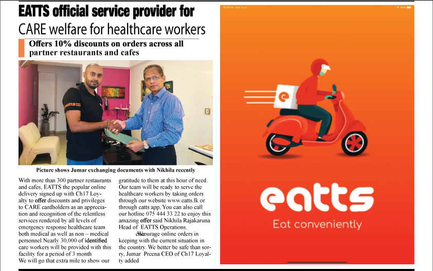 EATTS Official Service Provider for CARE Welfare for Healthcare Workers
